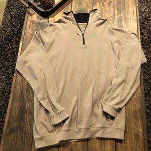 Tan cotton sweatshirt jacket